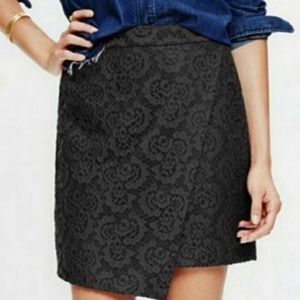 Madewell Lace Skirt Black Size 2